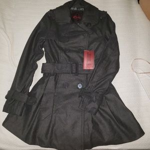 SML Yoki Charcoal Trench Coat